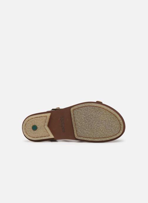Sandales et nu-pieds Kickers MEENWICH Or et bronze vue haut