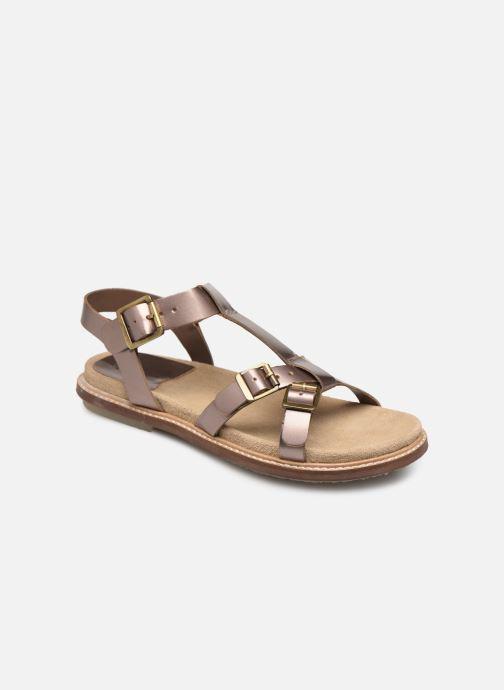 Sandaler Kickers MEENWICH Guld og bronze detaljeret billede af skoene