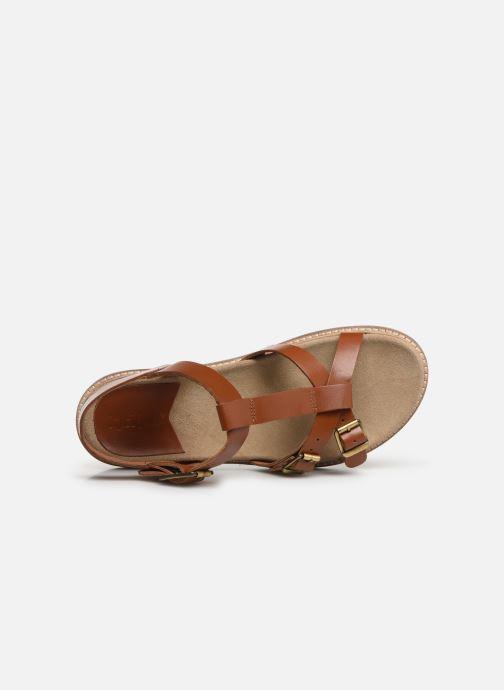 Sandales et nu-pieds Kickers MEENWICH Marron vue gauche