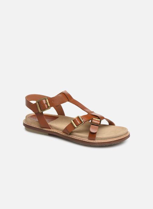 Sandales et nu-pieds Kickers MEENWICH Marron vue détail/paire