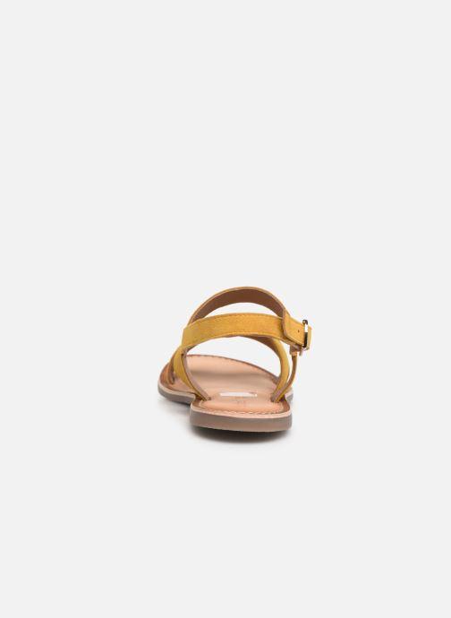 Sandales et nu-pieds Kickers DIBA Jaune vue droite
