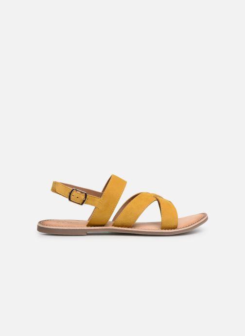 Sandales et nu-pieds Kickers DIBA Jaune vue derrière