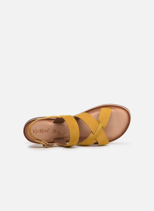 Sandales et nu-pieds Kickers DIBA Jaune vue gauche