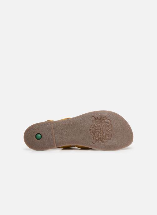 Sandales et nu-pieds Kickers DIBA Jaune vue haut