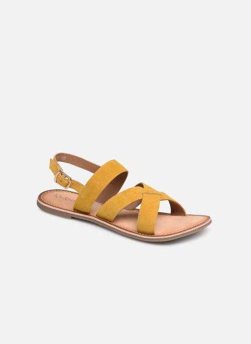 Sandales et nu-pieds Kickers DIBA Jaune vue détail/paire