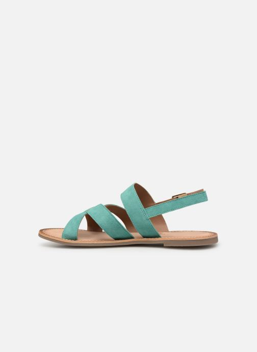 Sandalen Kickers DIBA blau ansicht von vorne