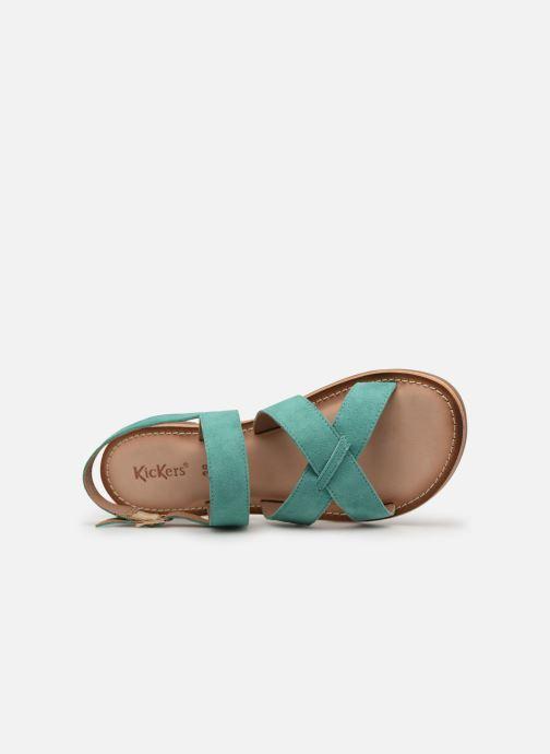 Sandalen Kickers DIBA blau ansicht von links