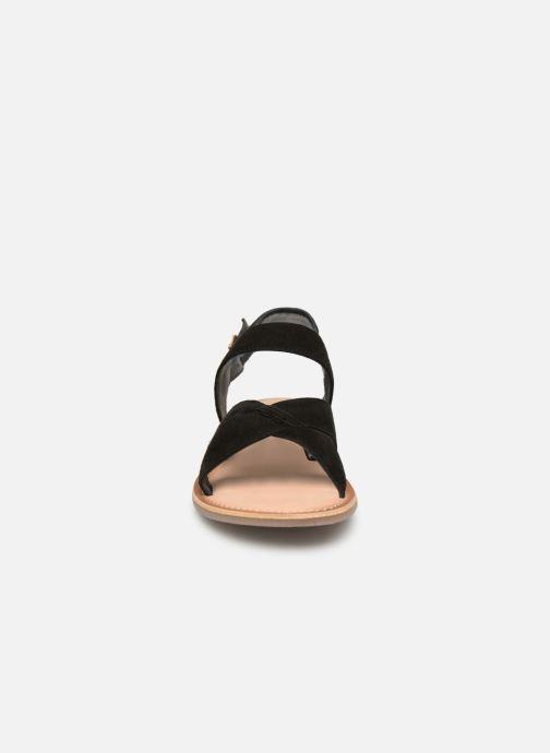 Sandales et nu-pieds Kickers DIBA Noir vue portées chaussures