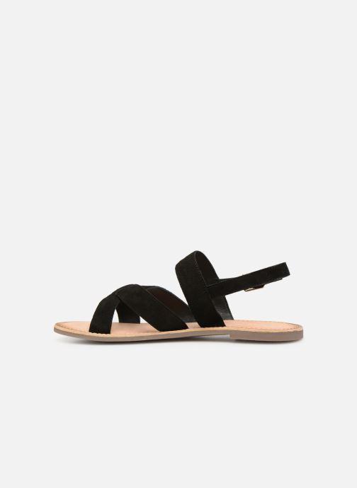 Sandales et nu-pieds Kickers DIBA Noir vue face