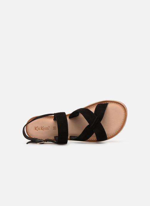 Sandales et nu-pieds Kickers DIBA Noir vue gauche