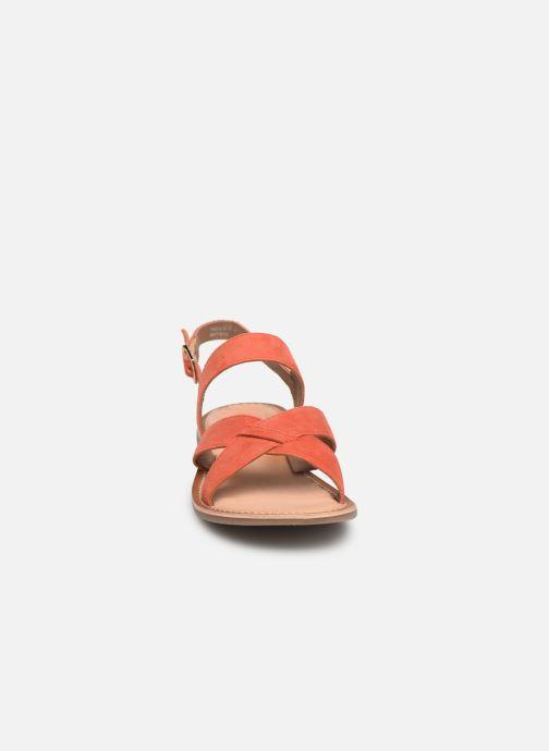 Sandales et nu-pieds Kickers DIBA Orange vue portées chaussures