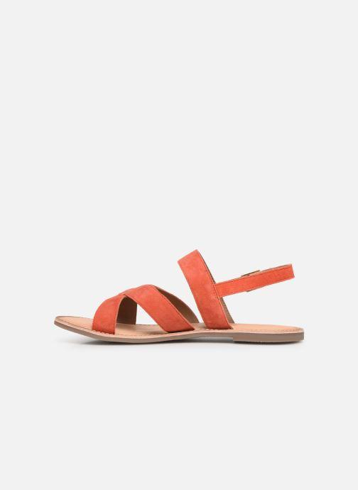Sandales et nu-pieds Kickers DIBA Orange vue face
