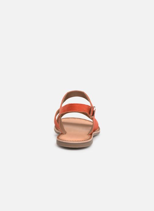 Sandales et nu-pieds Kickers DIBA Orange vue droite