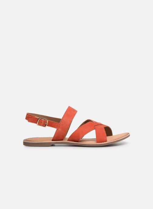 Sandales et nu-pieds Kickers DIBA Orange vue derrière