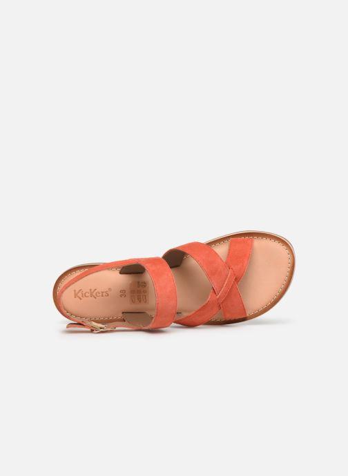 Sandales et nu-pieds Kickers DIBA Orange vue gauche