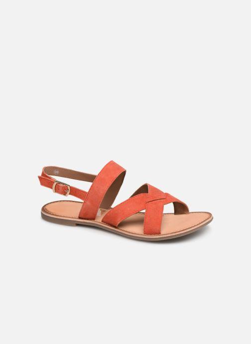 Sandales et nu-pieds Kickers DIBA Orange vue détail/paire