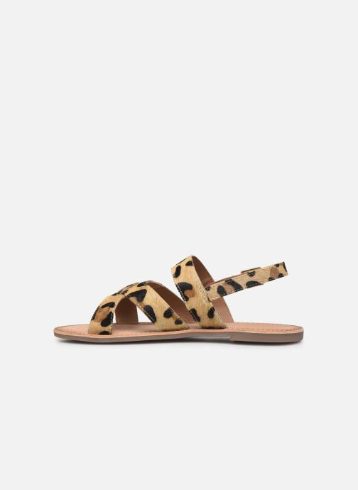 Sandalen Kickers DIBA braun ansicht von vorne