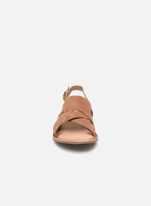 Sandales et nu-pieds Kickers DILANI Marron vue portées chaussures