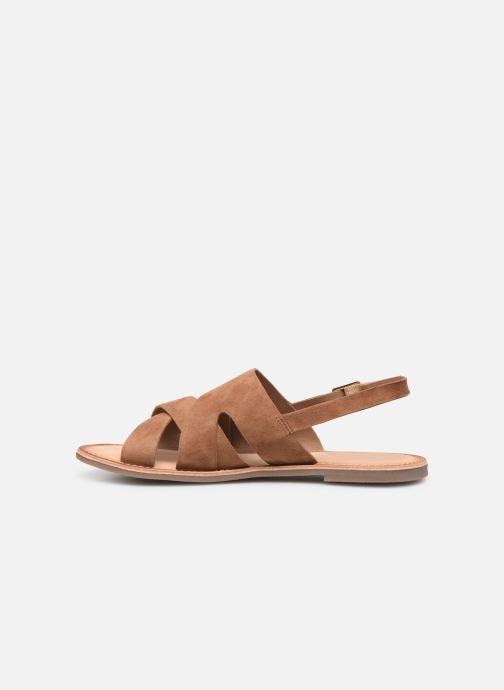 Sandales et nu-pieds Kickers DILANI Marron vue face