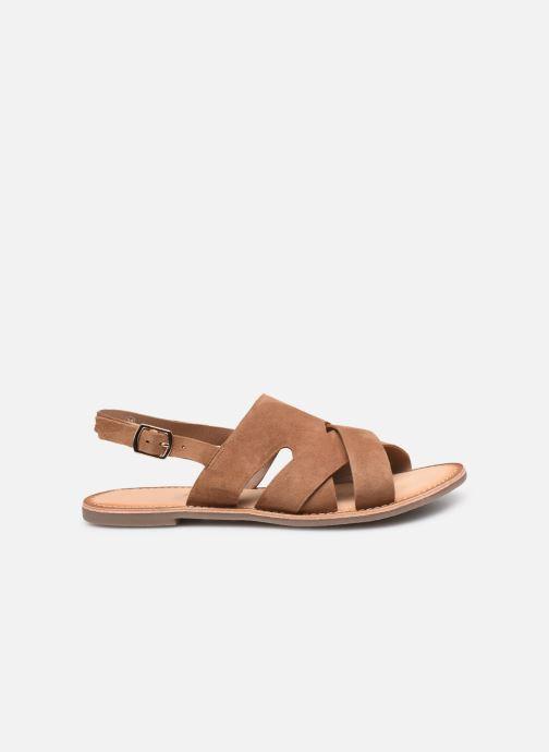 Sandales et nu-pieds Kickers DILANI Marron vue derrière