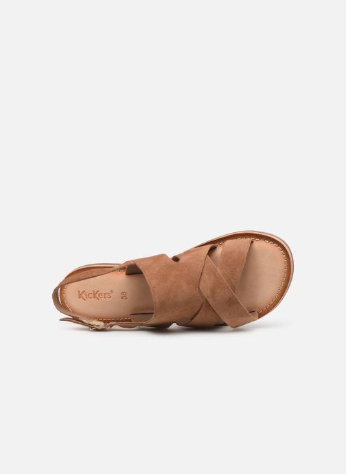 Sandales et nu-pieds Kickers DILANI Marron vue gauche