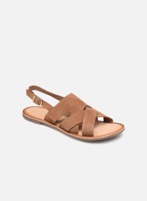 Sandales et nu-pieds Kickers DILANI Marron vue détail/paire