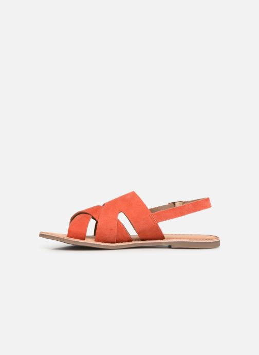 Sandales et nu-pieds Kickers DILANI Orange vue face