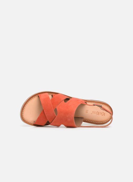 Sandalias Kickers DILANI Naranja vista lateral izquierda