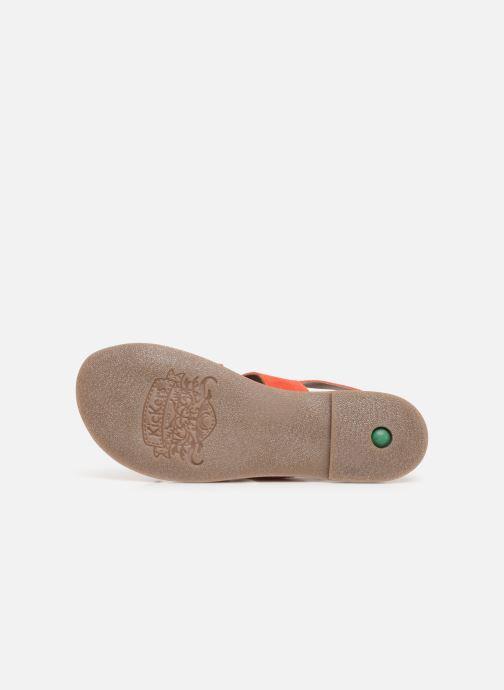 Sandales et nu-pieds Kickers DILANI Orange vue haut