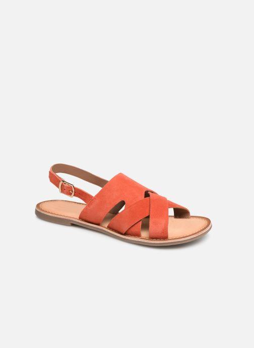 Sandales et nu-pieds Kickers DILANI Orange vue détail/paire