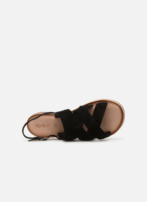 Sandales et nu-pieds Kickers DILANI Noir vue gauche