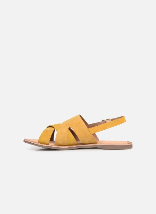 Sandales et nu-pieds Kickers DILANI Jaune vue face