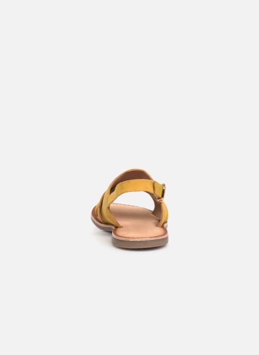 Sandales et nu-pieds Kickers DILANI Jaune vue droite