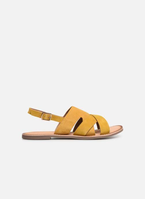 Sandales et nu-pieds Kickers DILANI Jaune vue derrière