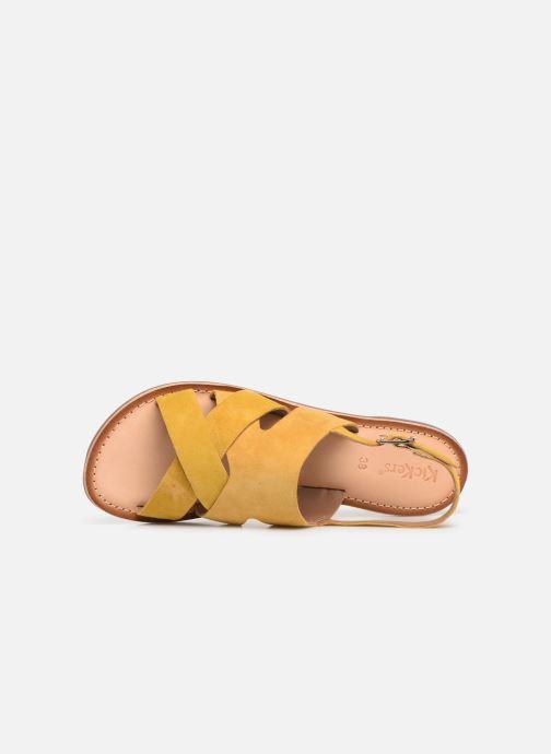 Sandales et nu-pieds Kickers DILANI Jaune vue gauche