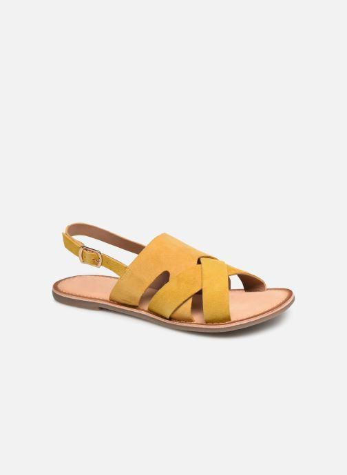 Sandales et nu-pieds Kickers DILANI Jaune vue détail/paire
