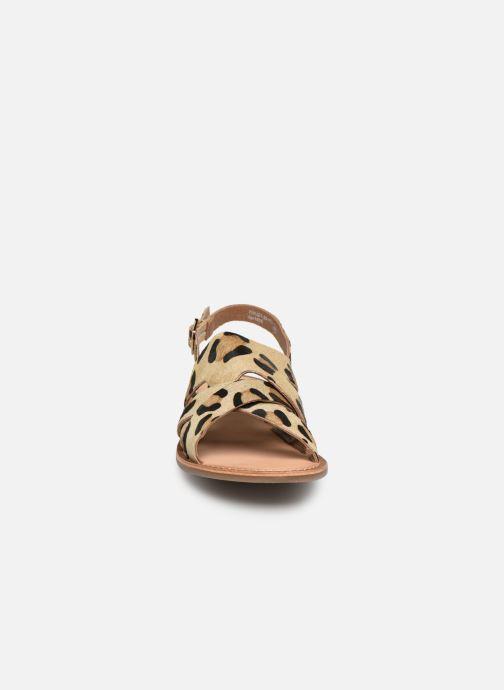 Sandales et nu-pieds Kickers DILANI Beige vue portées chaussures