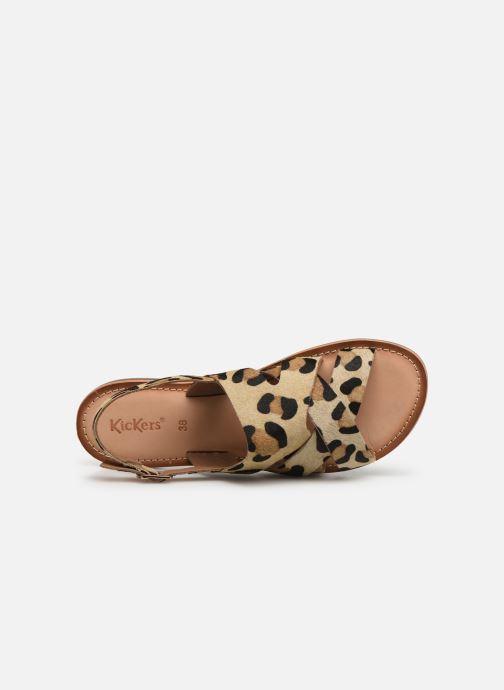 Sandales et nu-pieds Kickers DILANI Beige vue gauche