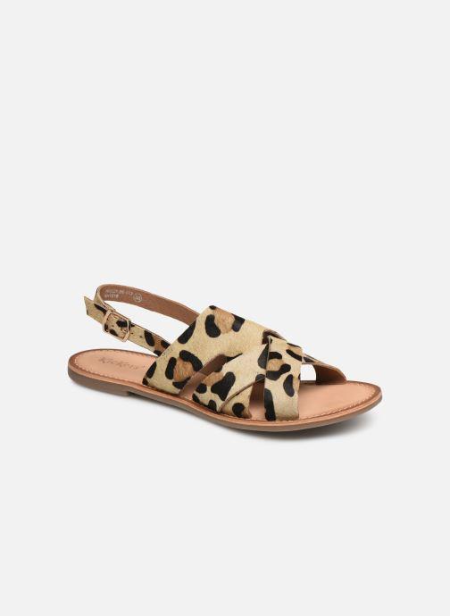 Sandales et nu-pieds Kickers DILANI Beige vue détail/paire