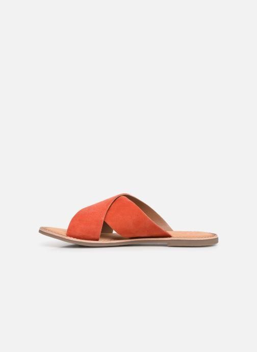 Zuecos Kickers DIAZ Naranja vista de frente