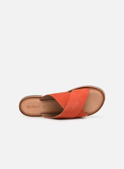 Clogs & Pantoletten Kickers DIAZ orange ansicht von links
