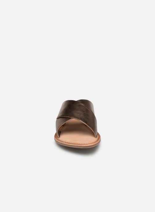 Mules et sabots Kickers DIAZ Or et bronze vue portées chaussures