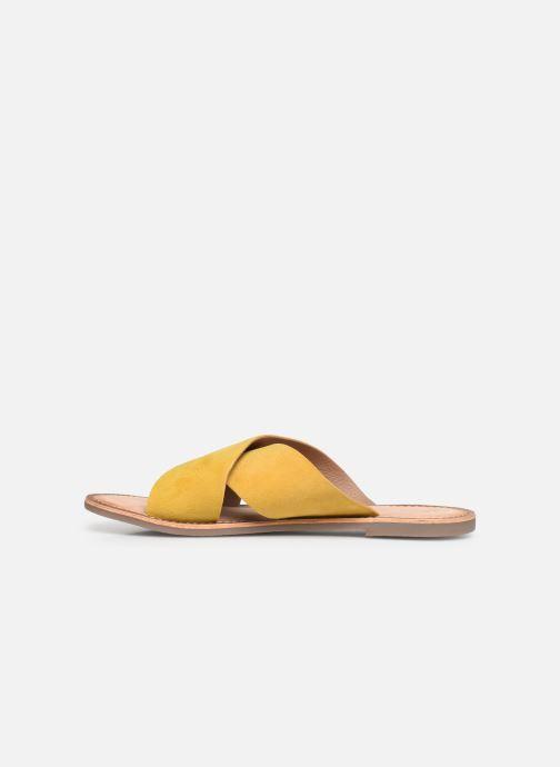 Clogs & Pantoletten Kickers DIAZ gelb ansicht von vorne
