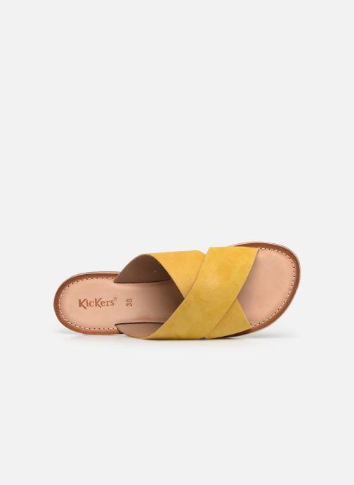 Clogs & Pantoletten Kickers DIAZ gelb ansicht von links
