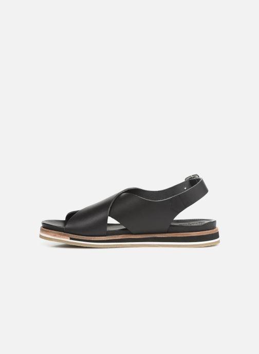 Sandales et nu-pieds Kickers OCEANIE Noir vue face