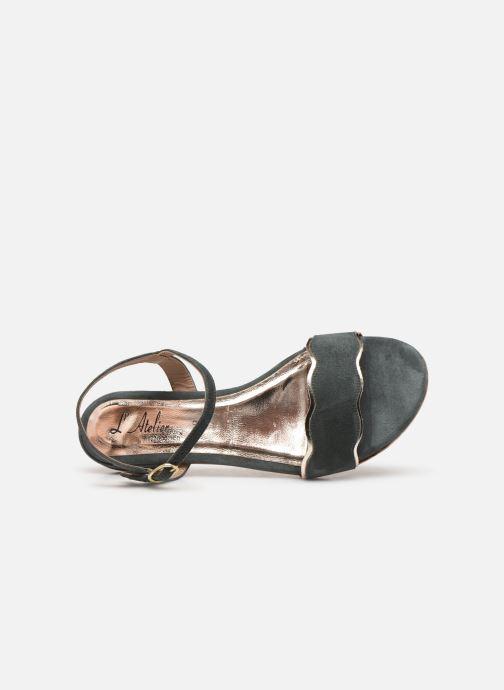Sandales et nu-pieds L'Atelier Tropézien SH668 Bleu vue gauche