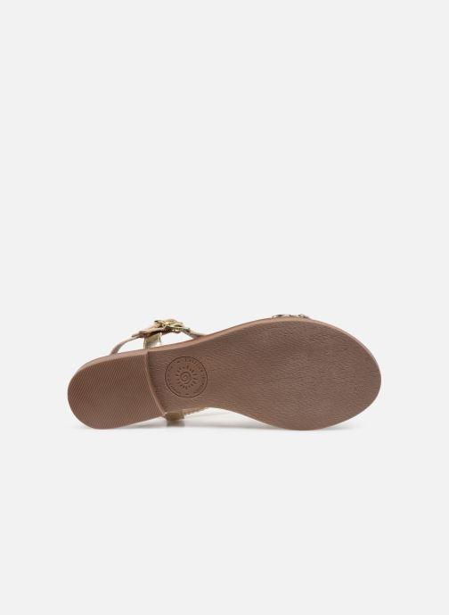 Sandales et nu-pieds L'Atelier Tropézien SB902 Or et bronze vue haut