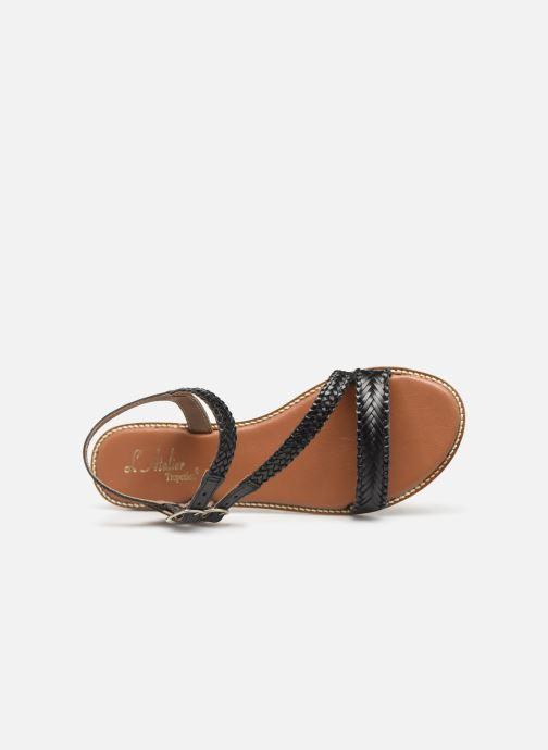 Sandales et nu-pieds L'Atelier Tropézien SB902 Noir vue gauche
