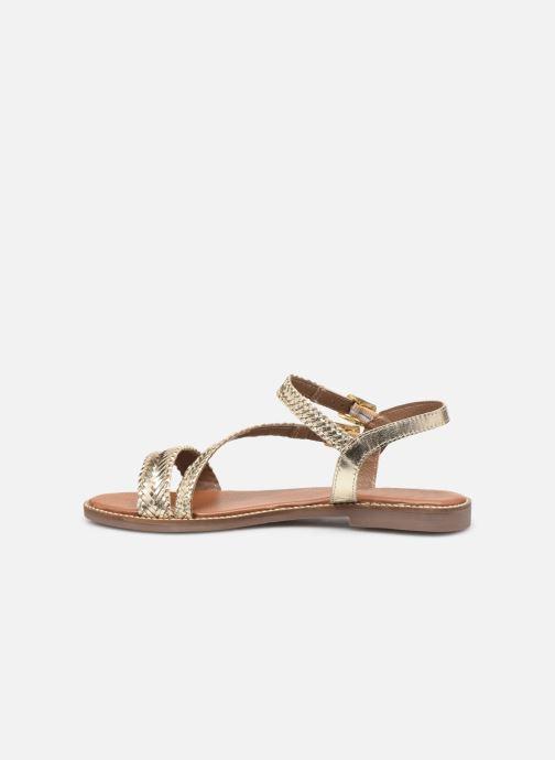 Sandales et nu-pieds L'Atelier Tropézien SB902 Or et bronze vue face