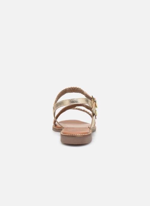 Sandales et nu-pieds L'Atelier Tropézien SB902 Or et bronze vue droite